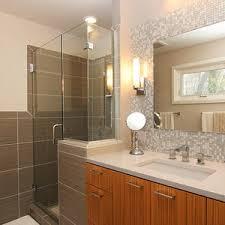 bathroom sink backsplash ideas brown tile backsplash bathroom transitional with accent wall black