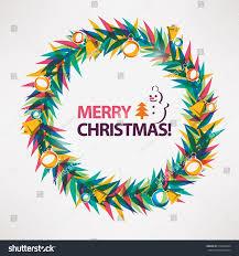 merry christmas modern merry christmas card wreath circle frame stock vector 518926204