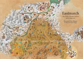 East Coast Time Zone Map by Eastmarch Map The Elder Scrolls Online Game Maps Com