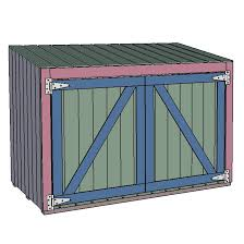 building plans for a trash can shed