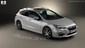 subaru hatchback white 360 view of subaru impreza 5 door hatchback 2016 3d model hum3d