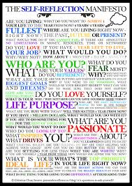 the self reflection manifesto questions to ask myself a good