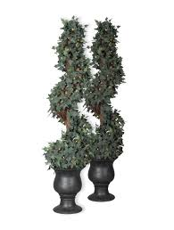 home decoration fabulous christmas spiral topiary and indoor