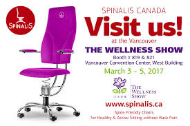 Sit Stand Desk Vancouver by Spinalis Chairs For Active Sitting At The Wellness Show In