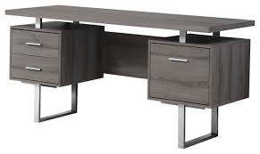 Black Desk With File Drawer Modern 60