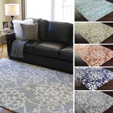 Area Rug 3x5 Area Rug 3 5 Square Blue White Floral Pattern Adorable Classic
