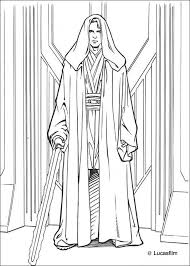 Coloriage de Star Wars de Anakin Skywalker Un coloriage inédit Star