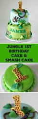 jungle 1st birthday cake u0026 smash cake rose bakes
