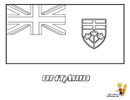 ontario coat of arms coloring page
