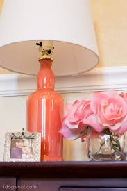 diy painted bottle lamp upcycle one dog woof
