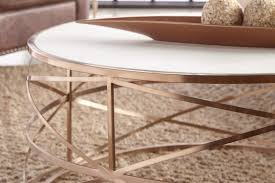coffee tables attractive melrose round coffee table rose gold