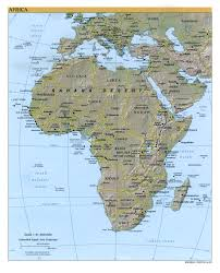 World Physical Map by Africa Physical Map 2000 Full Size