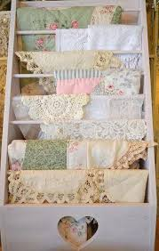 shabby chic display for doily u0027s tablecloths and quilts pictures