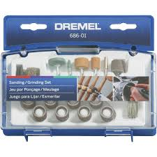 dremel 31 piece sanding grinding rotary tool accessory kit 686