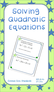 this product is a set of 22 task cards of quadratic equations the