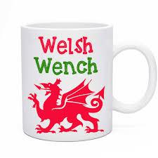 welsh wench tea u0026 coffee mug wales dragon design