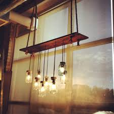 my diy barn board u0026 mason jar kitchen island light fixture