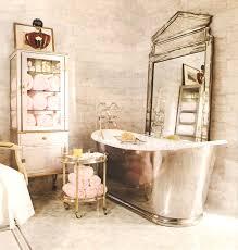 bathroom retro bathroom decor corner stone tub near teak wood