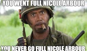 Nicole Meme - you just went full retard blank template imgflip