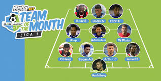 Bola Net Bola Net Team Of The Month Liga 1 April 2017 Bola Net