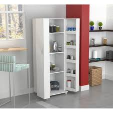 small kitchen cabinets walmart inval 2 door 4 shelf laminate kitchen storage pantry laricina white