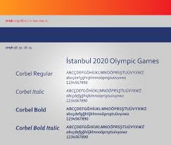 Corbel Bold Istanbul 2020 Olympic Games Corporate Identity On Behance