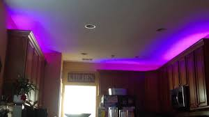Lighting For Under Kitchen Cabinets by Led Strip Lights Over Kitchen Cabinets Youtube