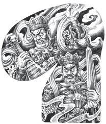 jinxuan a3 china traditional flash sketch art dragon beast tattoo