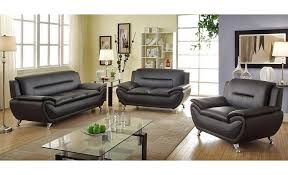 Discount Leather Sofas by Captivating Black Leather Sofa Set With Sofa Glamorous Black