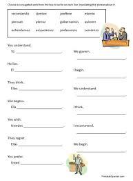 spanish conjugation worksheets worksheets