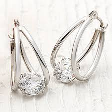 images for earrings earrings gold silver stainless steel earrings more qvc