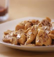 recette cuisine legere poulet à la moutarde et aux chignons sauce légère au yaourt