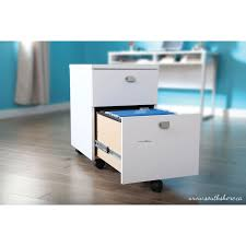 south shore interface mobile cabinet pure white filing