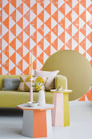 dulux pastel coloured geometric wall yellow sofa dulux red online
