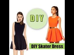 how to make a skater dress easy youtube