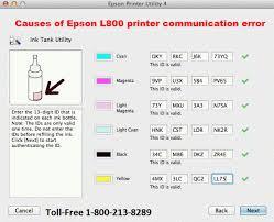 resetter printer epson l800 gratis 1 800 610 6962 fix epson printer communication error on epson l800