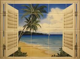 beach kitchens ceramic tile murals for kitchen or barbeque