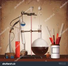 vintage equipment chemical lab equipment alchemist stock vector