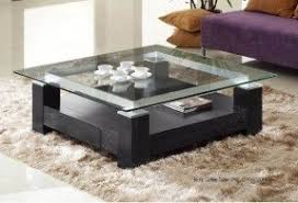 Glass Top Square Coffee Table Square Coffee Table With Glass Top Foter
