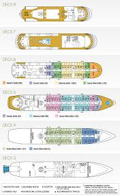 Cruise Ship Floor Plans Star Pride Ship Tauck Small Ship Cruises