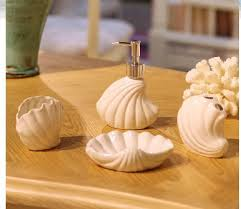 Shell Bathroom Accessories by Online Shop Mediterranean Style Sea Shells Ceramic Bathroom