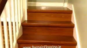 Laminate Flooring Over Concrete Basement Laminate Stairs Www Bargainflooring Ie How To Install Laminate