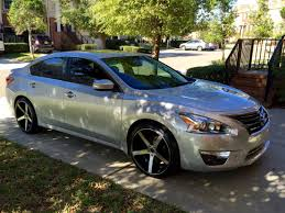 nissan altima 2016 black rims nissan altima with stillen front lip and 18
