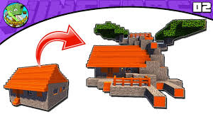 minecraft tutorial transform an acacia village l shape house