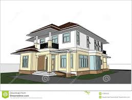 home design sketch free sketch design of house vector stock vector image 41895429