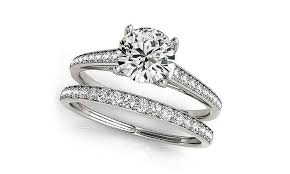 groupon wedding rings 3 64 cttw engagement ring set made with swarovski crystals 2