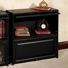 beautiful black bookcases with glass doors american hwy black