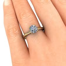 7mm ring rope band engagement ring forever one moissanite sailor 7mm