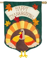 burlap sculpted thanksgiving turkey decorative house flag i