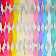 paper ribbon party maniac decorative ribbon pack of 12 crepe paper roll